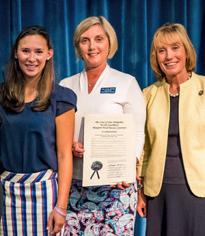 Nursing graduates receiving commendation from N.H. Governor