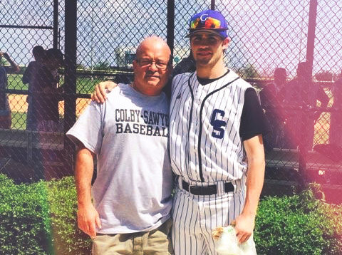Bobby Madden '18 with his dad, Bob Madden.