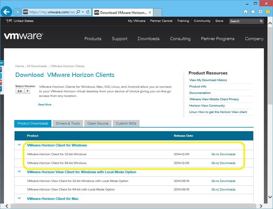 download vmware horizon client for 32-bit windows 7