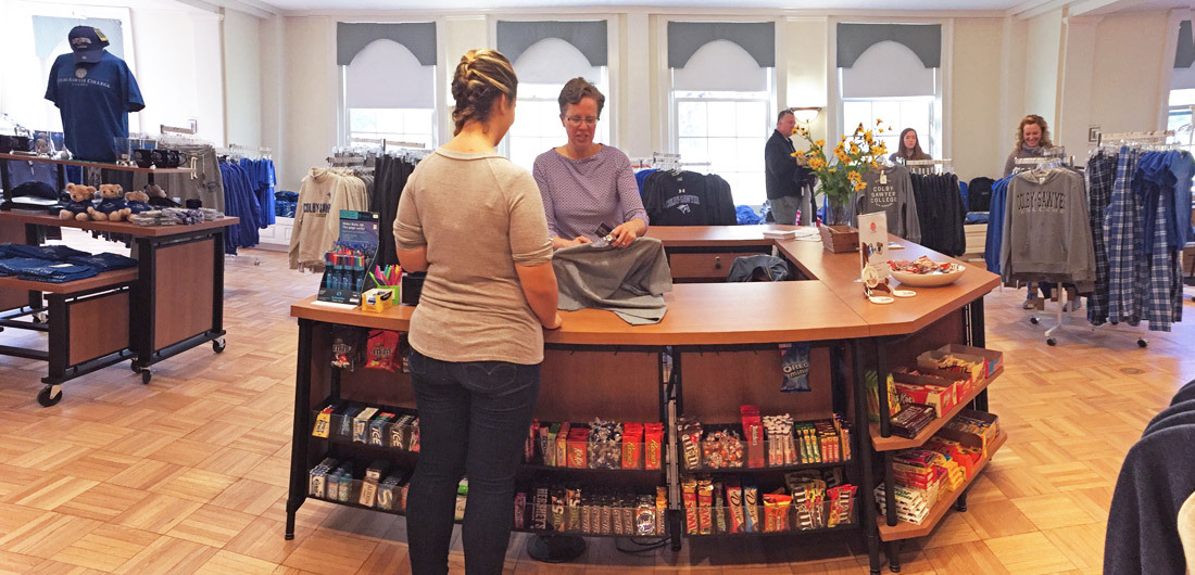 Customers shopping at the Stable campus store.