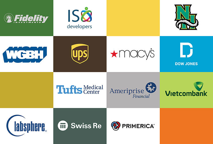Logos representing Business Administration student internship locations