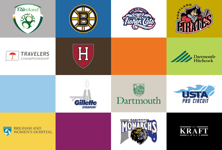Logos representing Exercise & Sport Sciences student internship locations