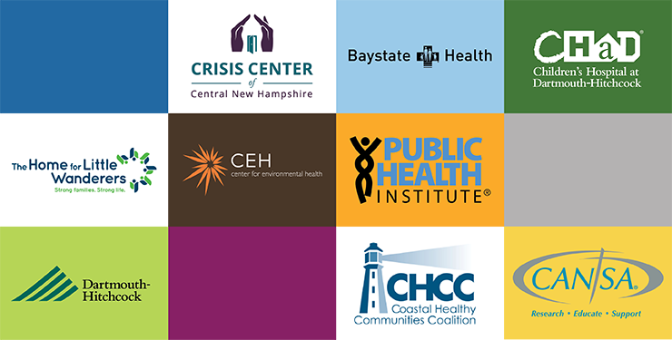 Grid of logos representing Colby-Sawyer student internship sites
