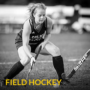 Colby-Sawyer field hockey player on the field