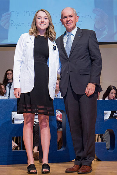 Morganne Murphy-Meyers '17 at her White Coat Ceremony