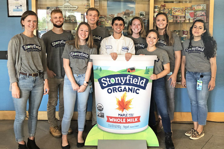 Student interns at Stonyfield Organic headquarters.