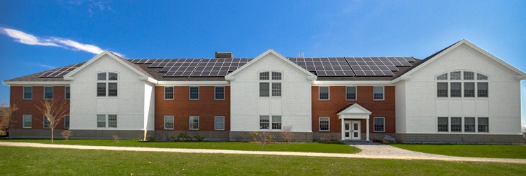 Renewable energy systems at Colby-Sawyer College.