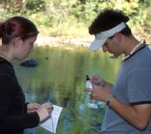Students test water
